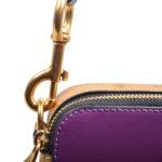 Marc Jacobs crossbody bag mini purple gold leather canvas shoulderstrap gold hardware_2 Kopie