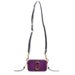 Marc Jacobs crossbody bag mini purple gold leather canvas shoulderstrap gold hardware_3 Kopie