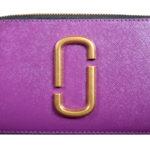 Marc Jacobs crossbody bag mini purple gold leather canvas shoulderstrap gold hardware_4 Kopie