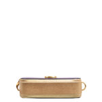 Marc Jacobs crossbody bag mini purple gold leather canvas shoulderstrap gold hardware_5 Kopie