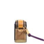 Marc Jacobs crossbody bag mini purple gold leather canvas shoulderstrap gold hardware_6 Kopie