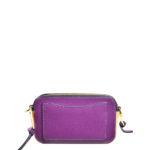 Marc Jacobs crossbody bag mini purple gold leather canvas shoulderstrap gold hardware_7 Kopie