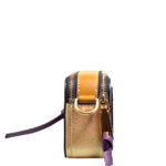 Marc Jacobs crossbody bag mini purple gold leather canvas shoulderstrap gold hardware_8 Kopie