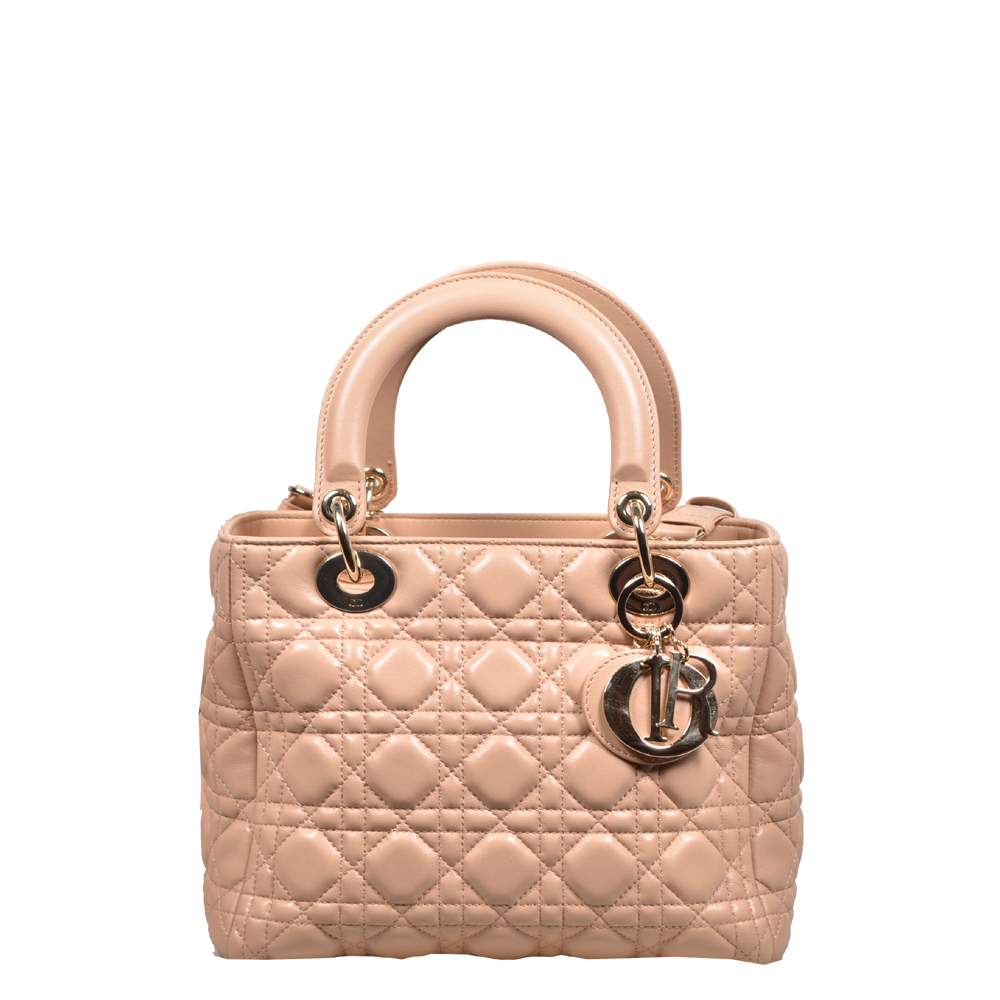 ca0885a0fc28 ewa lagan - Christian Dior Lady Dior bag nude leather gold Archives