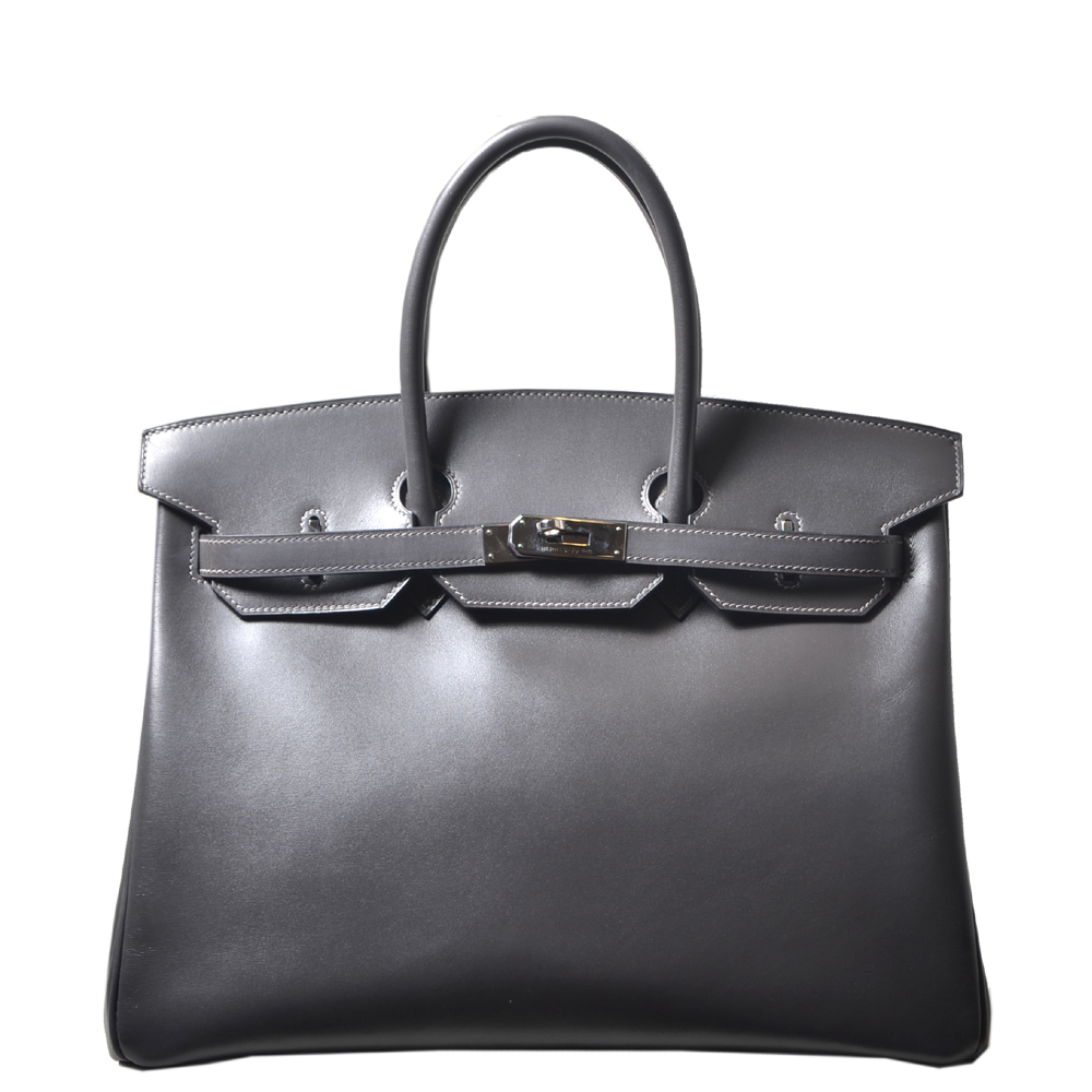 287dd314e1 ... discount women hermes birkin 35 graphite box leather palladium hardware  7f0aa 2476f