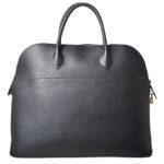 Hermes Bolide 45 travel bag black ardenne leather gold hardware_6 Kopie