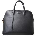 Hermes Bolide 45 travel bag black ardenne leather gold hardware_8 Kopie