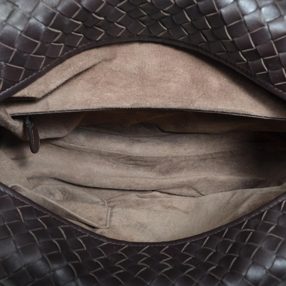d2ae81fb87 Bottega Veneta Bowling bag darkbrown woven leather silver 11 Kopie