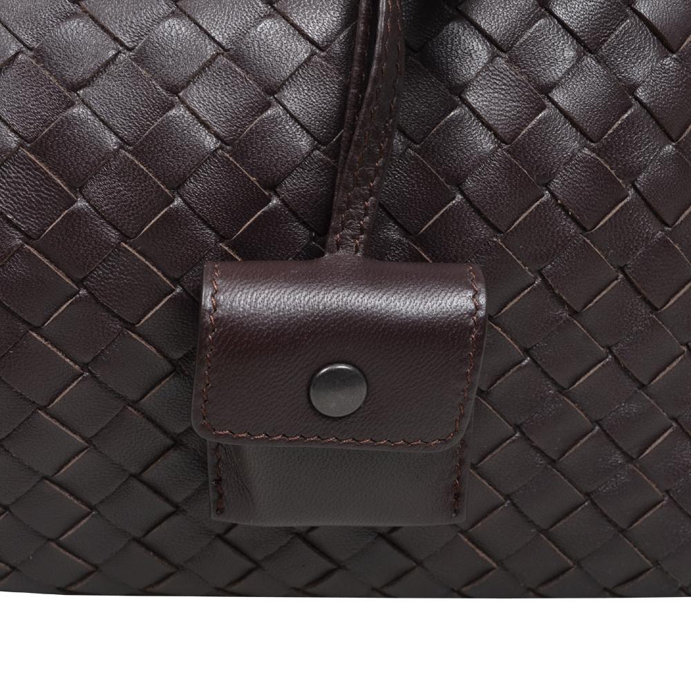 dad82ab0cd Bottega Veneta Bowling bag darkbrown woven leather silver 7 Kopie