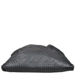 Bottega Veneta Shopper black green woven leather_1 Kopie