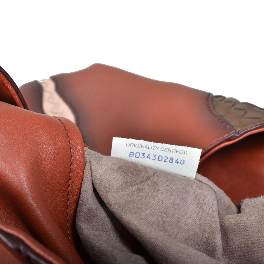 Bottega Veneta Shopper red grey brown white leather 5 Kopie fe7f990a6ef7b