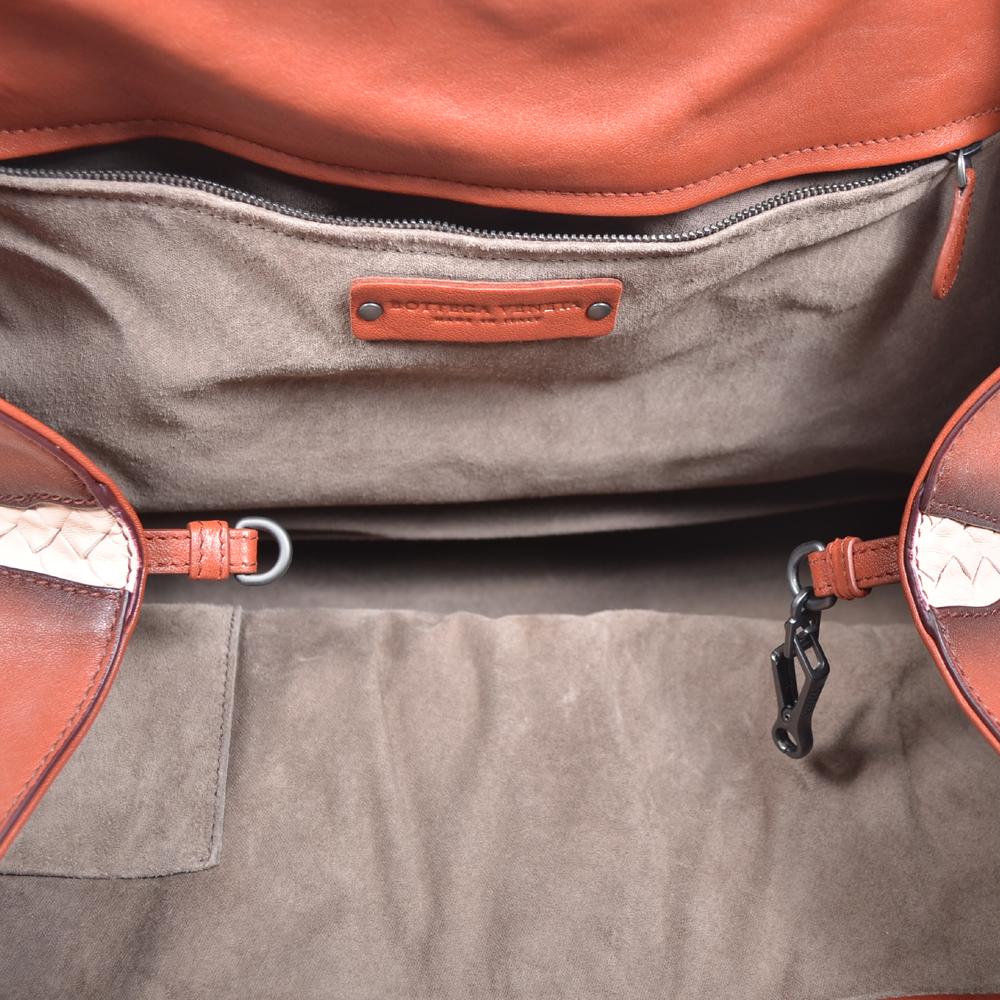 Bottega Veneta Shopper red grey brown white leather 6 Kopie 5b5e22e3a7a60
