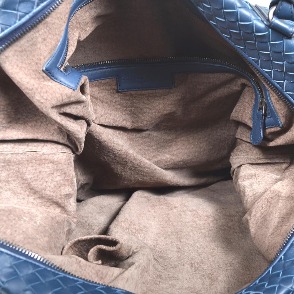 Bottega Veneta shopper convertible blue woven leather silver 6 Kopie f755aeaa0f978