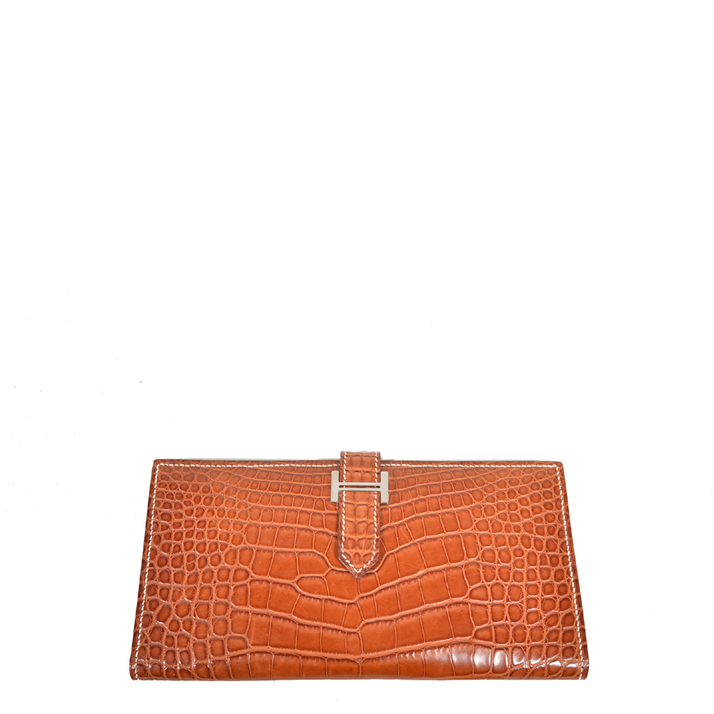 Hermes Wallet Bearn Niloticus Fauve crocodile leather Palladium_4 Kopie