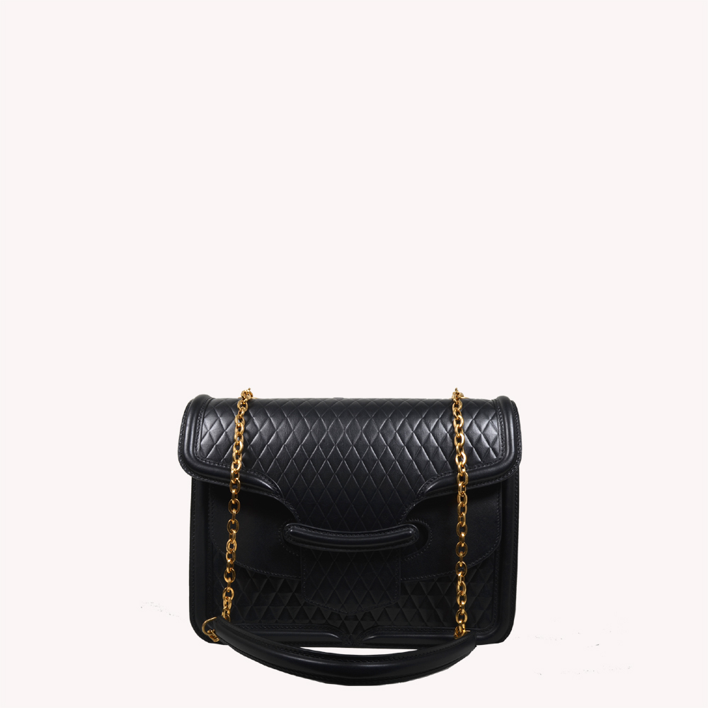 ewa lagan - Alexander McQueen Heroine Bag Black Schwarz c53280479e5ed
