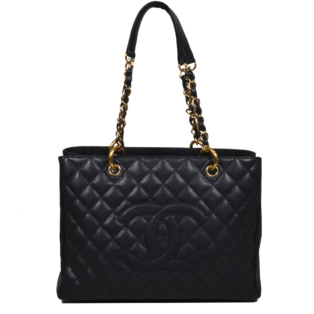 Chanel Gst Per Black Cavier Leather Gold Hardware 4 Kopie