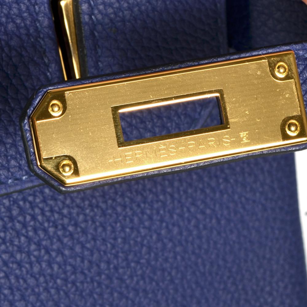 fd05db47a9 ewa lagan - Hermes Birkin 30 Blue Encre Togo Leather Gold