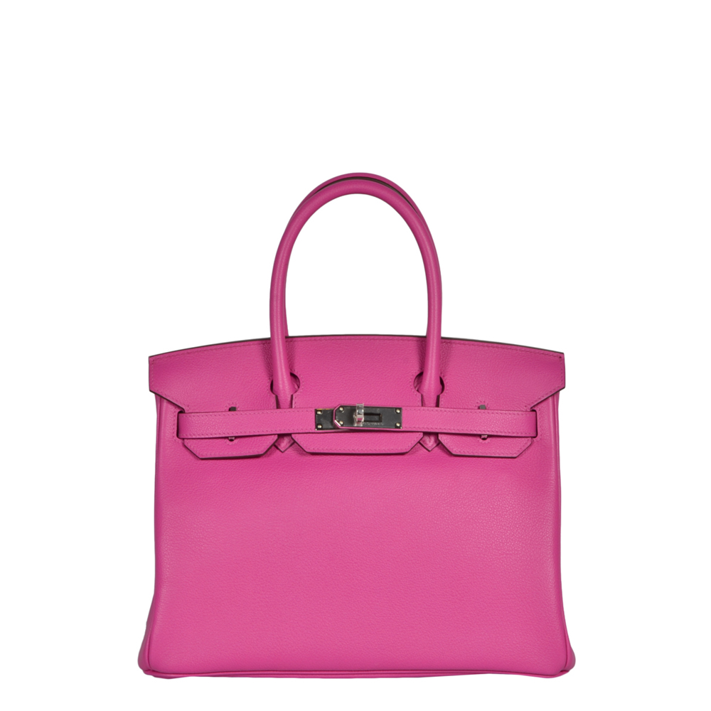a02fd092b2e Home · Hermes Birkin 30 Mangnollia Tourillon Novillo Leather Palladium