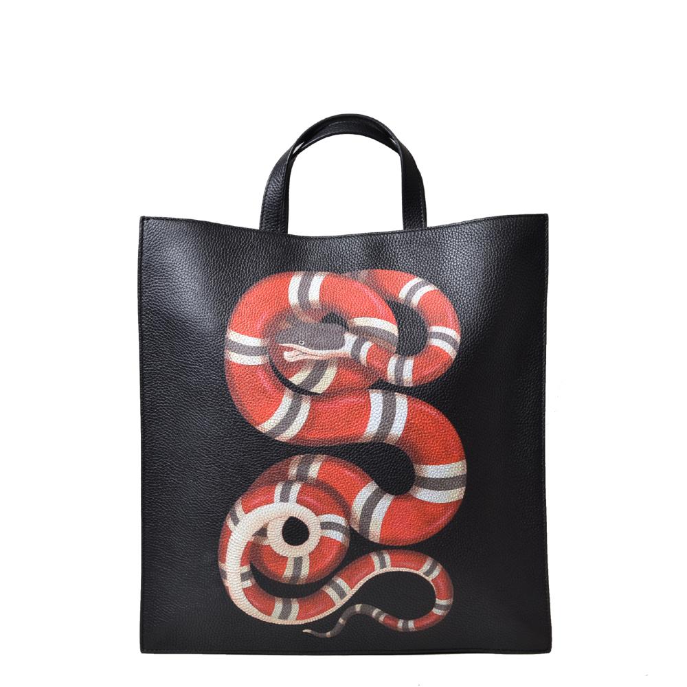 Gucci Shopper Nlack with Snake and Shoulderstrap Kopie