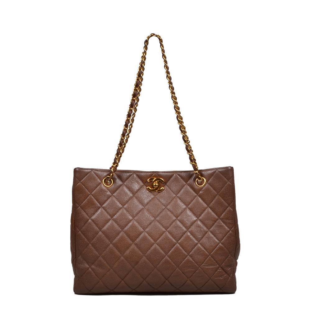Chanel Shopper Vintage Braun Gold Kopie