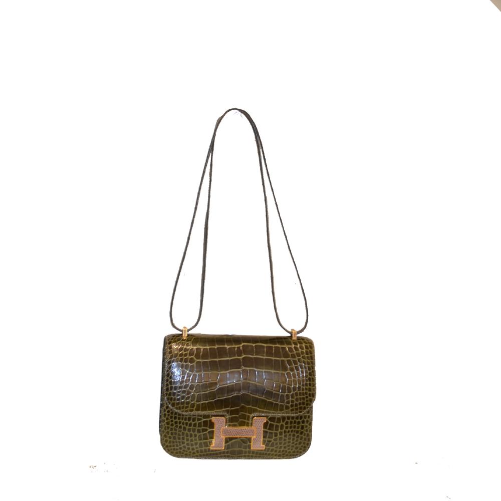 Hermes Constance Mini Alligator Lizard vert veronese Agate Cites Kopie
