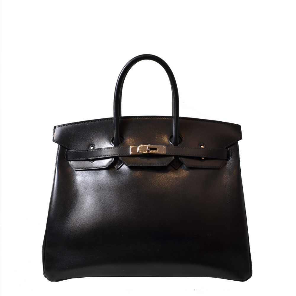 Hermes Birkin 35 schwarz Palladium Kopie