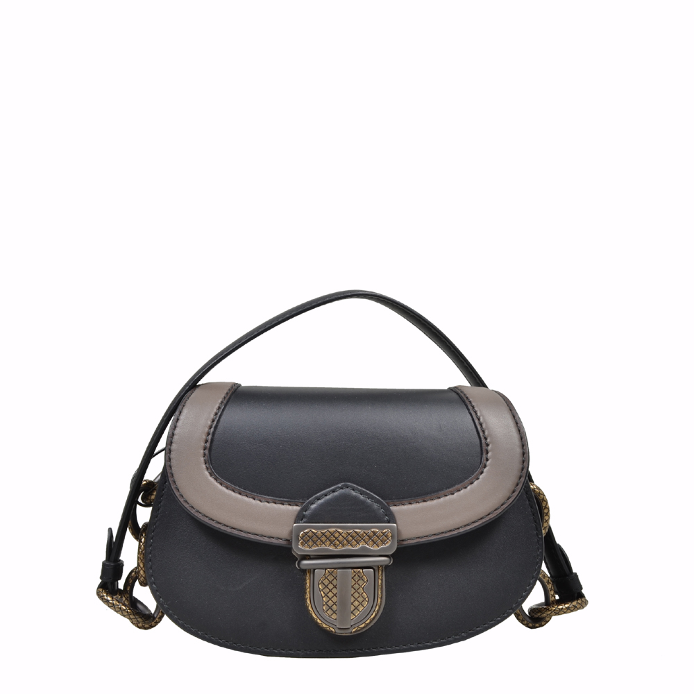 Bottega Veneta Saddlebag black grey brass ( 20 x 10 x 11) 800 Kopie