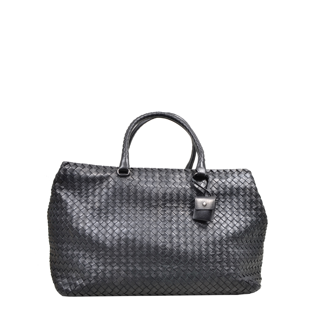 Bottega Veneta Shopper Tote Intrecciato Black Kopie