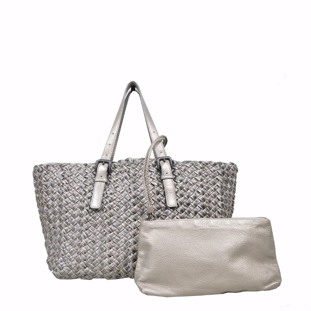 Bottega Veneta Shopper silver ( 35x 23 x 18 ) 4
