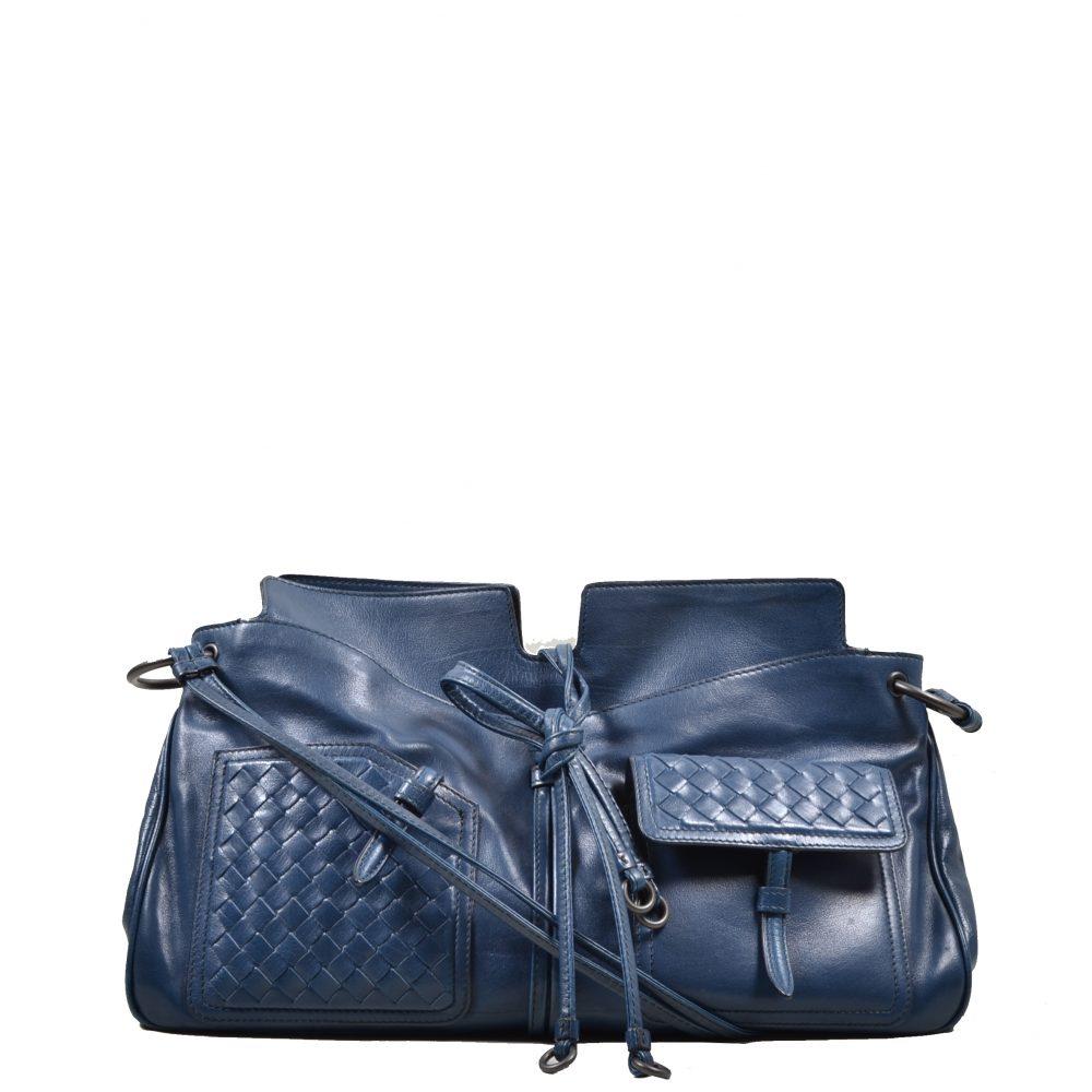 Bottega Veneta Shoulderbag Blue (38x32x10)