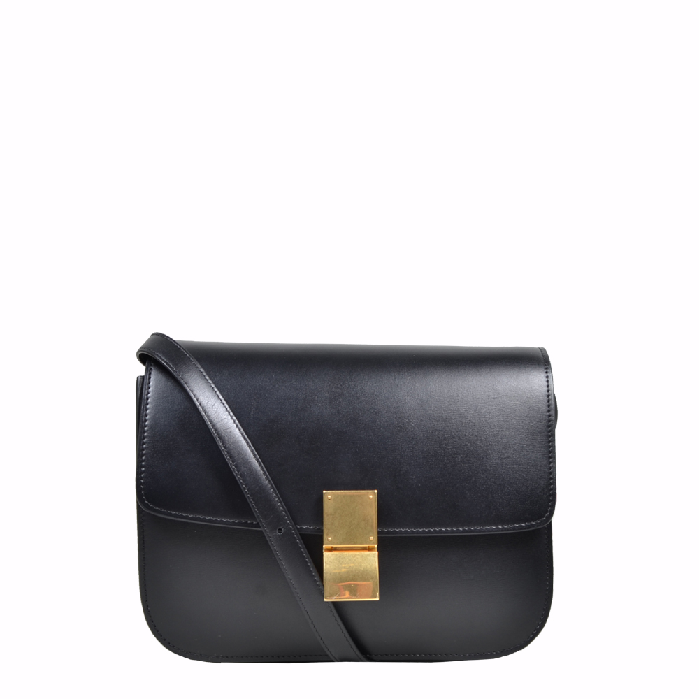 Celien Bag Classic box calf leather Black ( 24x8x19) 2