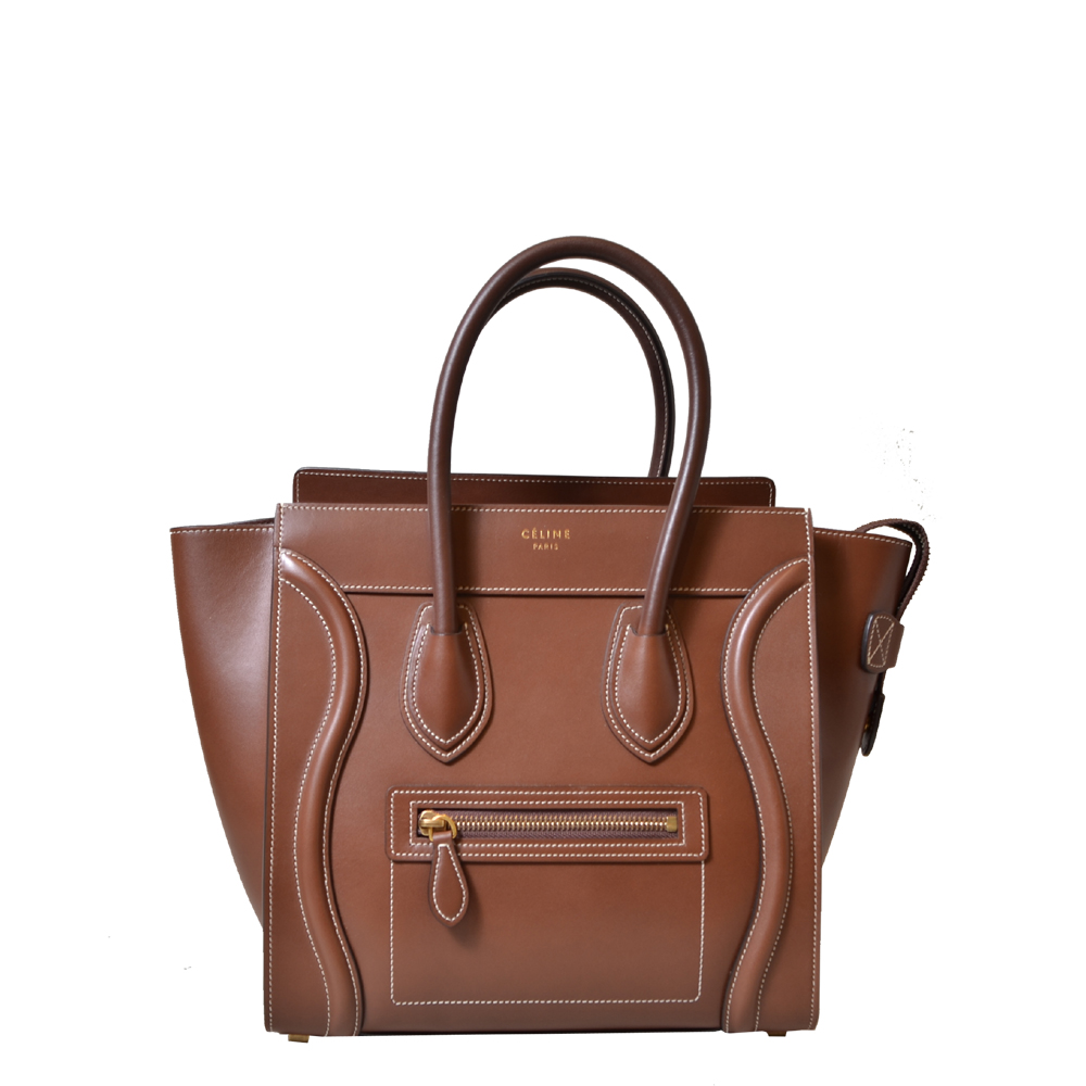 Celine Luggage Bag Nano Leather Brown Kopie