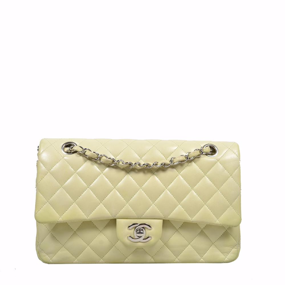 Chanel Bag Timeless 25.5 Nappa leather mint silver ( 25.5 x 16 x 7 ) 3