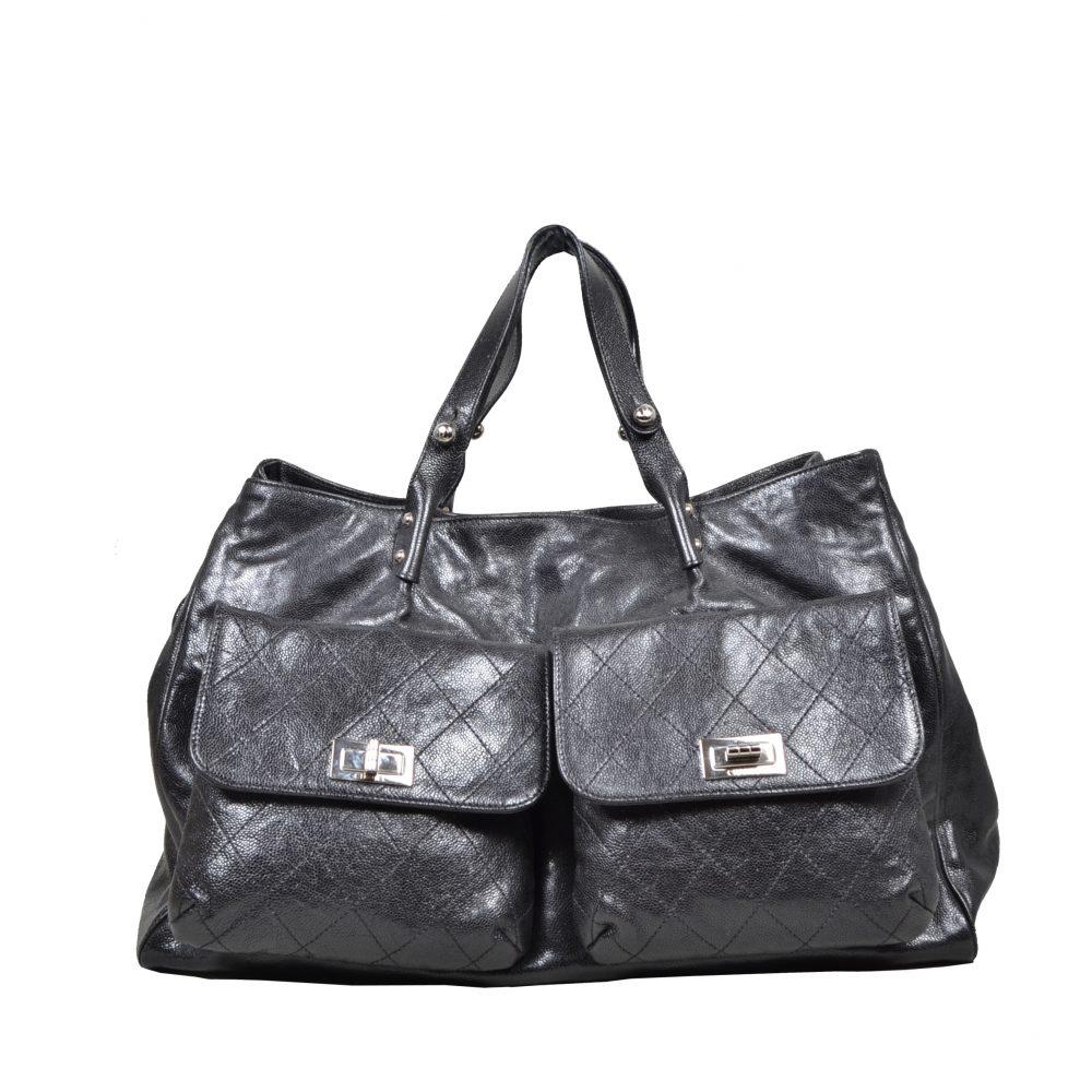 Chanel Black Kavialeder (46x30x18) – Kopie