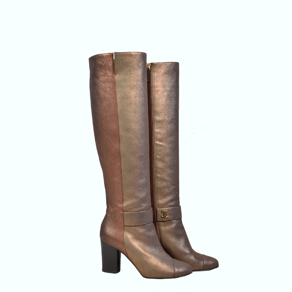 Chanel Boots bronze leather ( 35,5) 400 Kopie