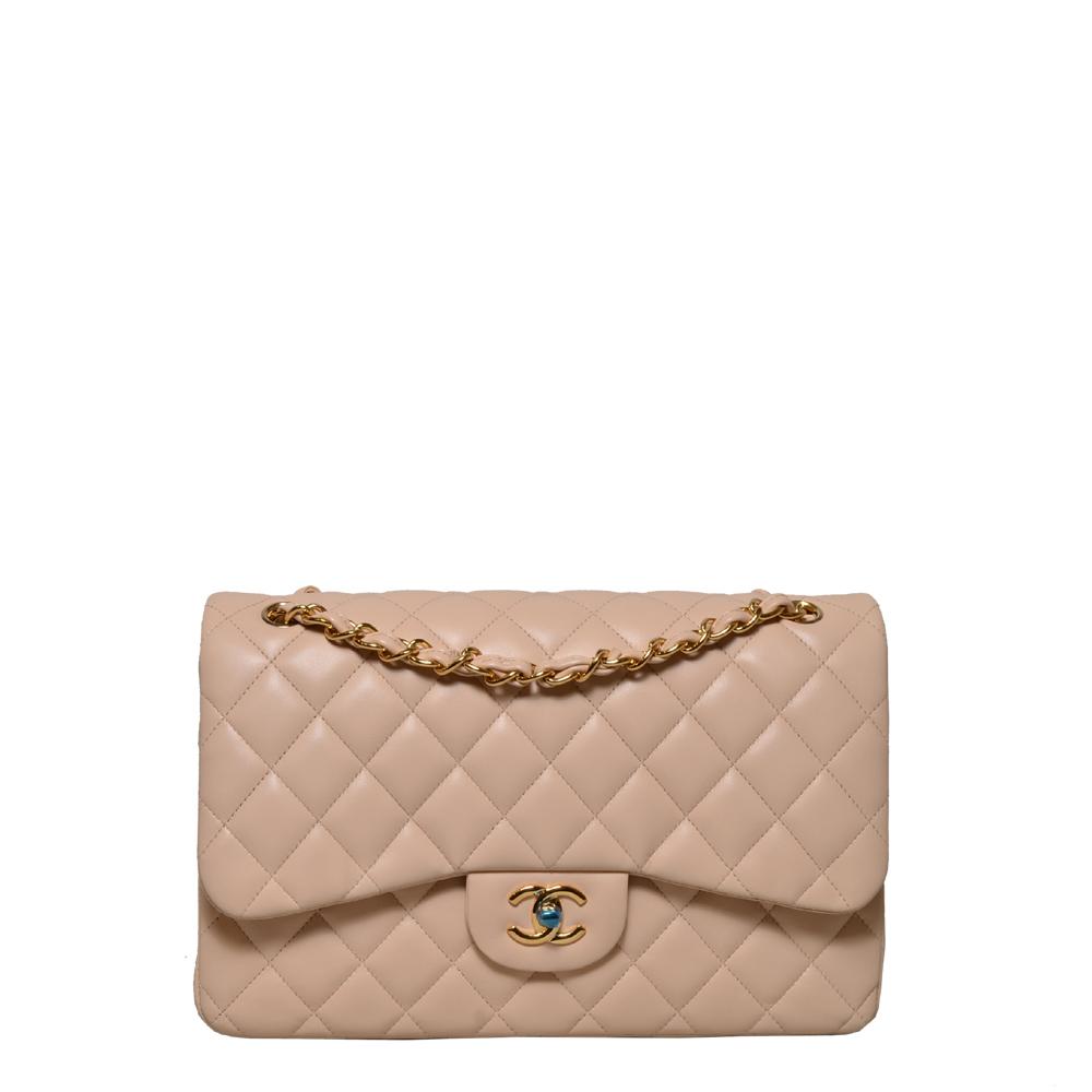 Chanel Timeless Jumbo Nappa Beige Gold Kopie