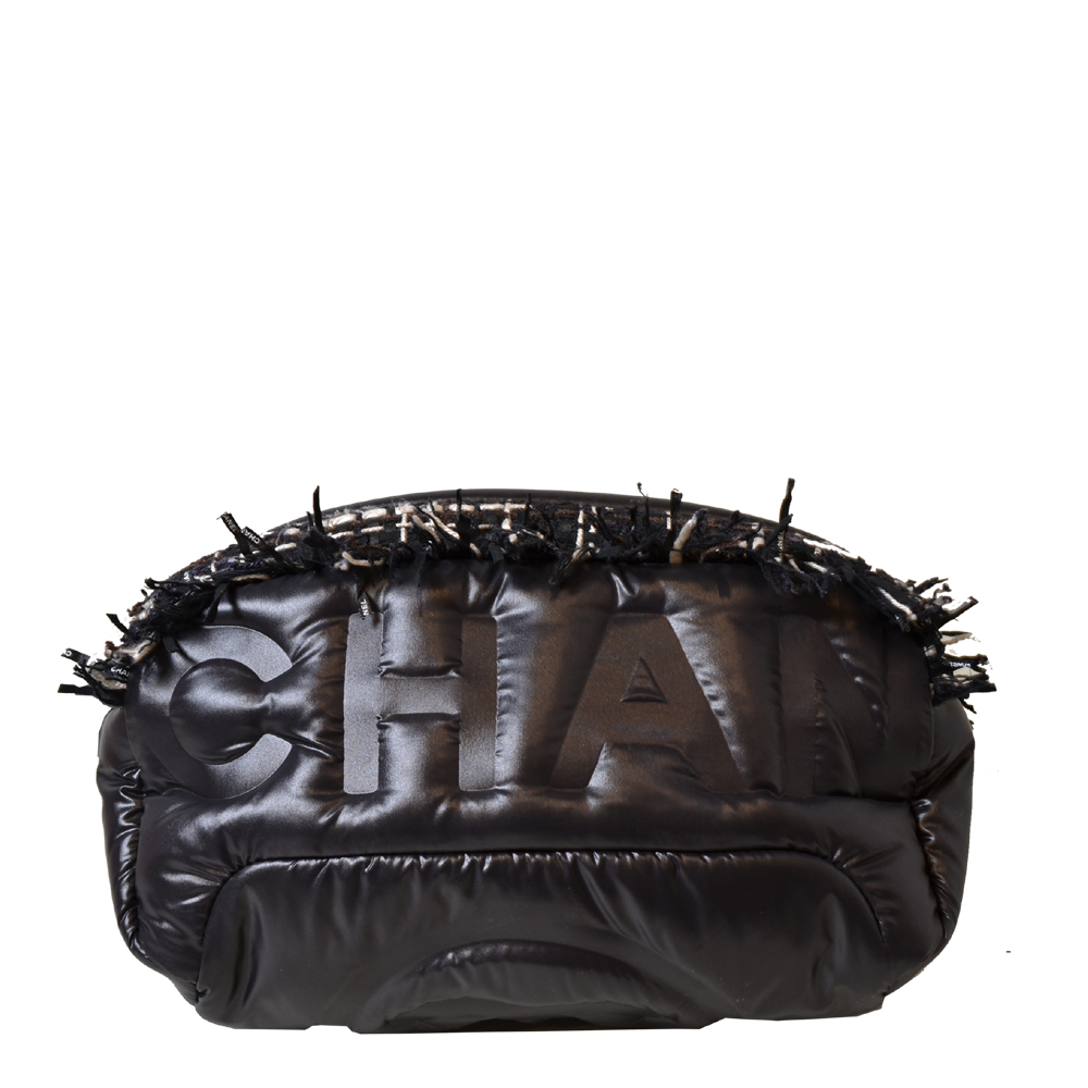 Chanel Waistbag Neige Tweet Nylon Black Kopie