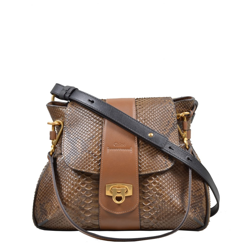 Chloe Bag snake khaki brown (29x23x13)