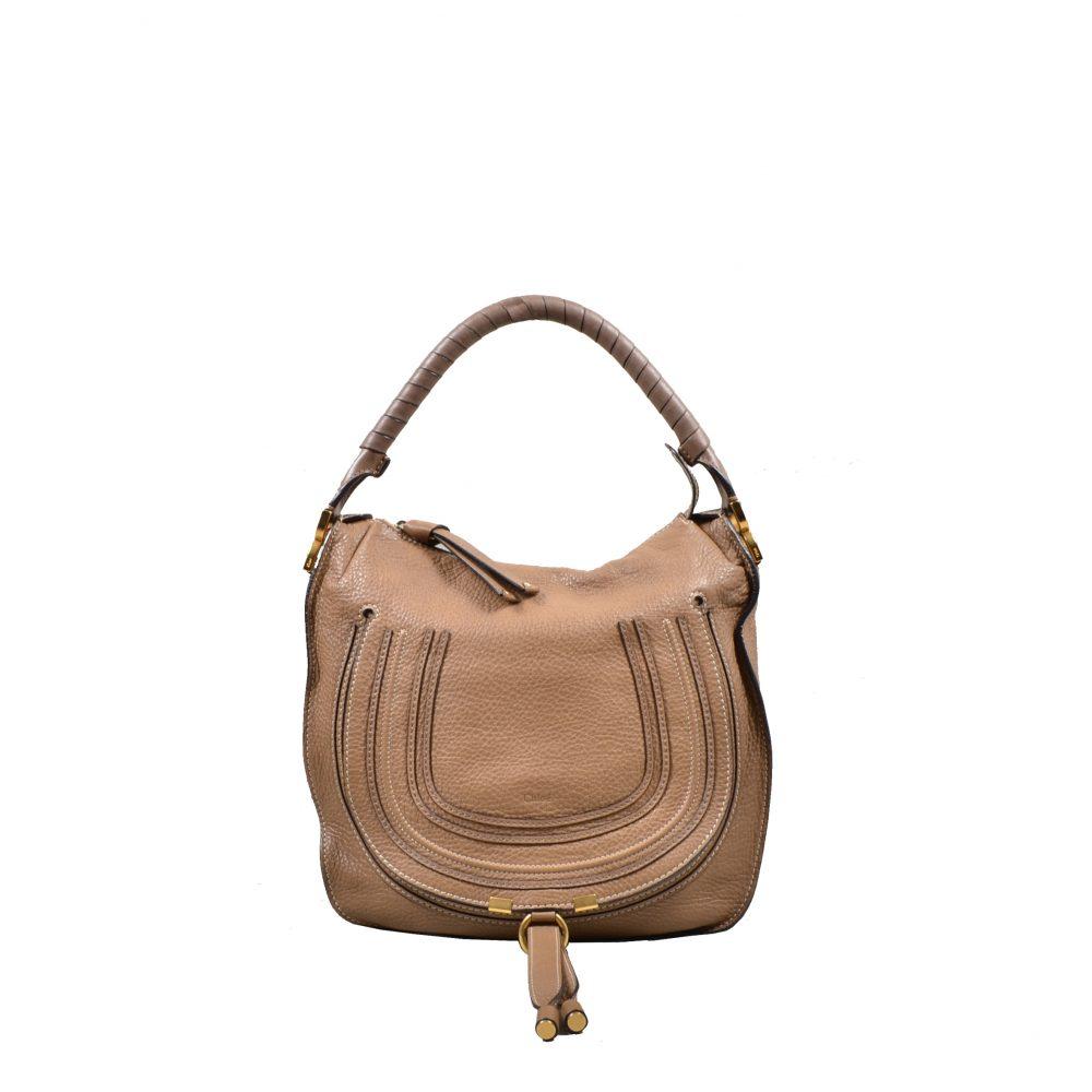 Chloe Marcie Bag Medium leahter beige(34x32x10)