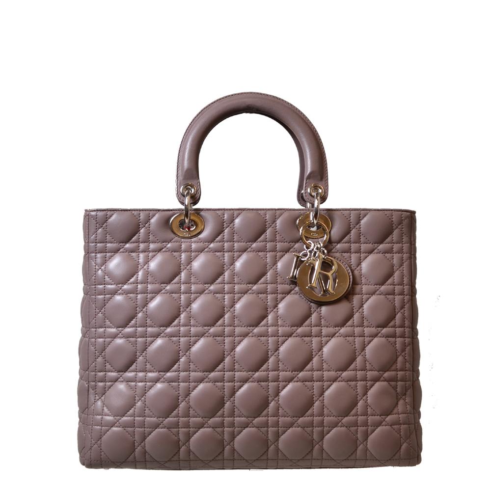 Dior Bag Lady Dior mudgrey silver Kopie