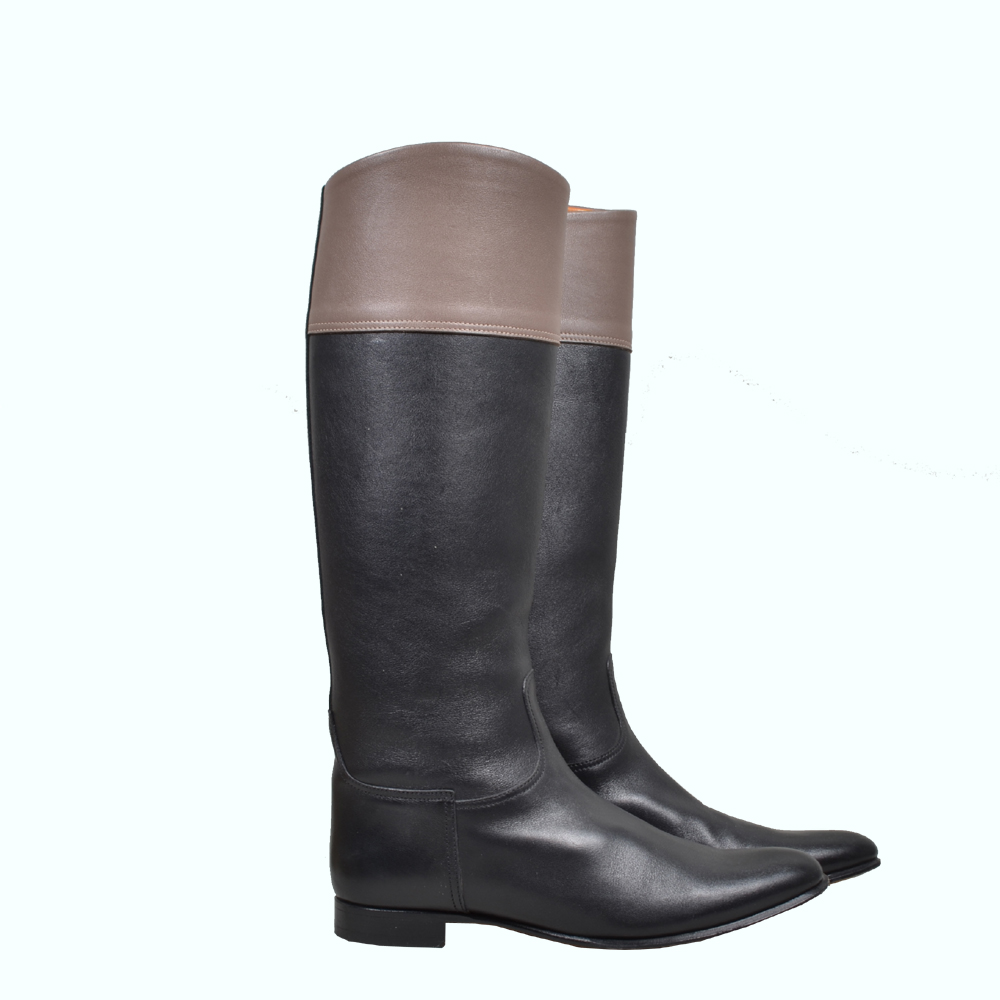 Hermes Boots black brown leather ( 39.5 ) 500 Euro