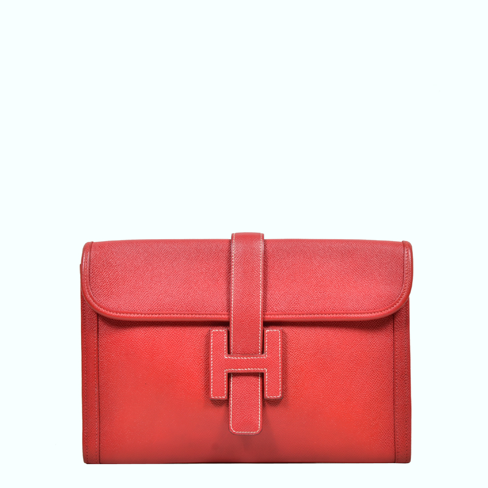 Hermes Jige Epsom Leather red ( 29,5 x 19 x 4 ) 1