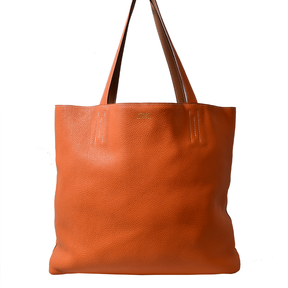 Hermes Shopper Double Orange Gold Kopie