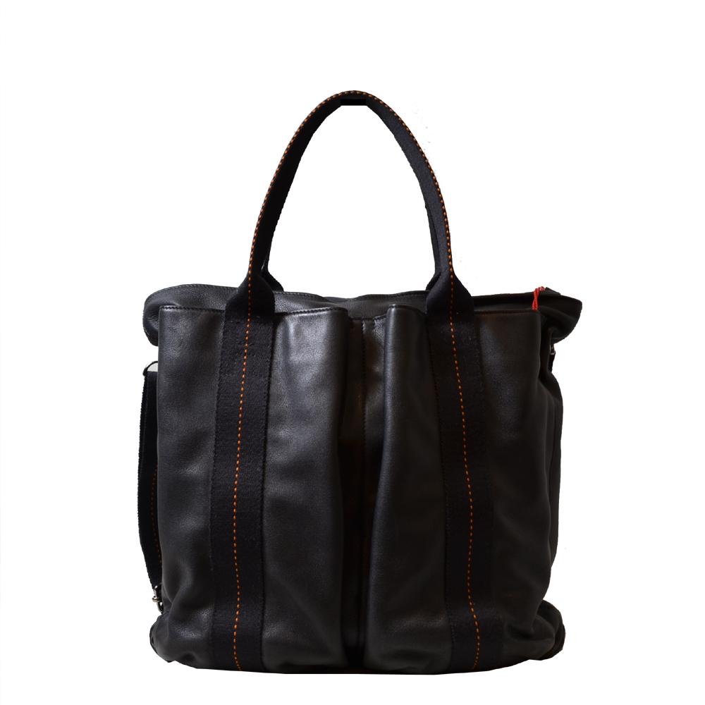 Hermes Tasche schwarz orange länglich Kopie