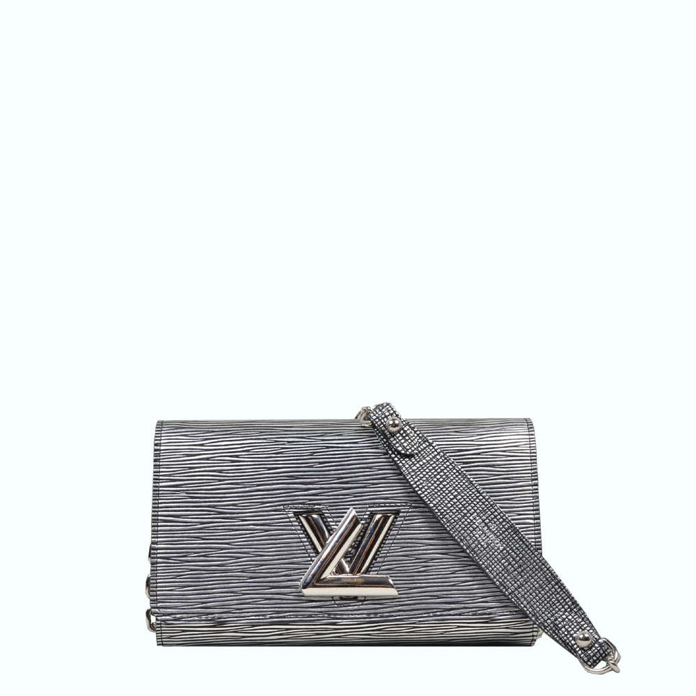 Louis Vuitton Epi Twist Chain Wallet Black Silver ( 19 x 12 x 3 ) 1