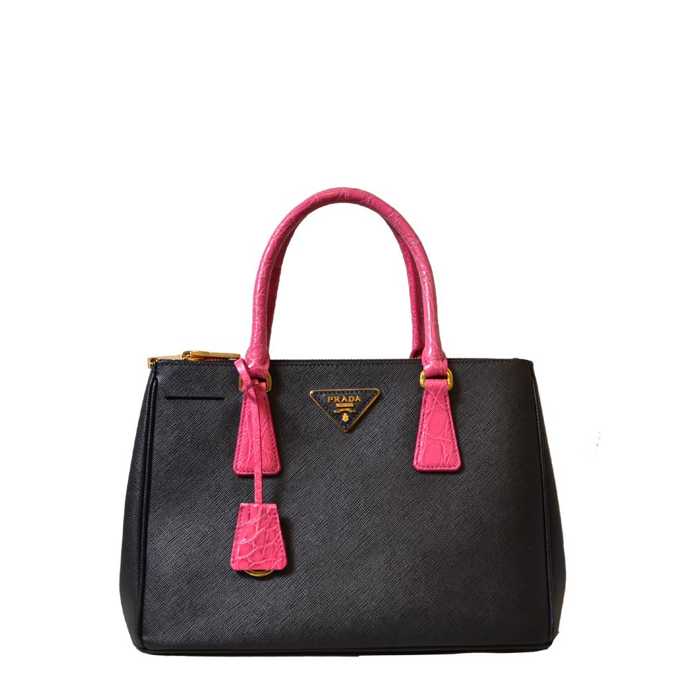 Prada Bag Black Pink Kroko Kopie