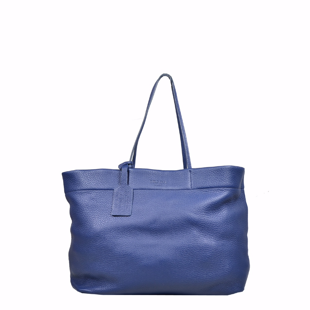 Prada Shopper blue leather ( 39 x 33 x 15 ) 1