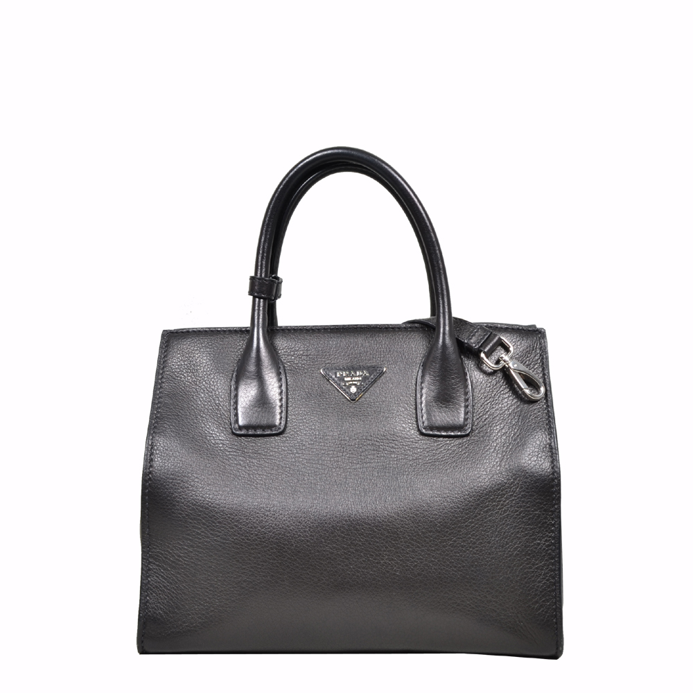 Prada Tote bag Black with shoulderstrap silver ( 31 x 25 x 18 ) 1