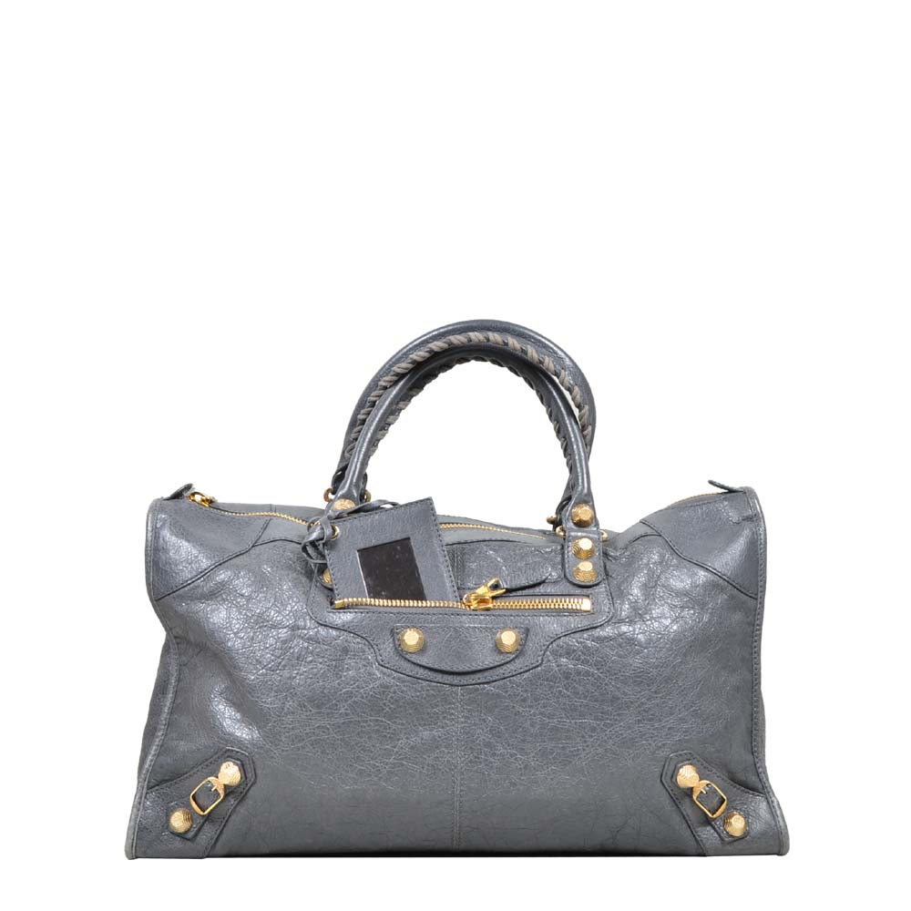 Balenciaga City Bag Leather Grey Gold ( 46 x27 x 19 ) 550 Kopie