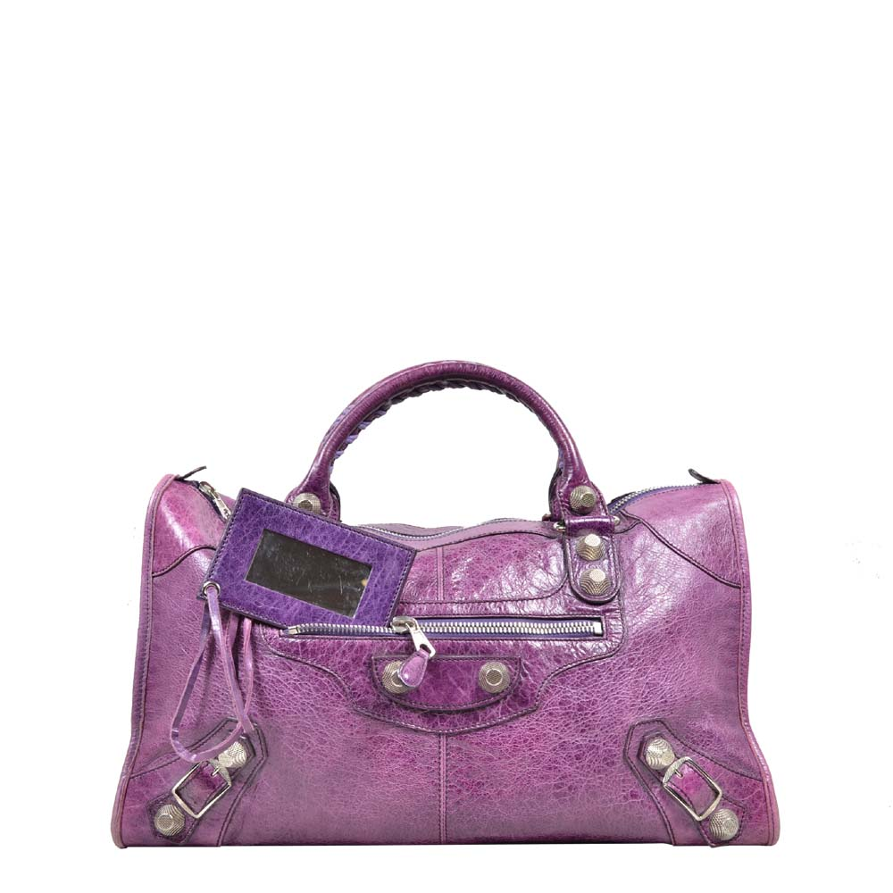 Balenciaga City Bag Leather purple silver ( 46 x 27 x 19 ) 600 Kopie